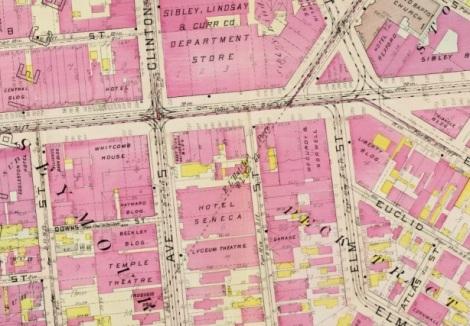 Rochester Plat 1910 downtown plate 2 excerpt