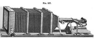 Professional Photo-Micro-Camera designed by George W. Rafter (from the Journal of the Royal Microscopical Society, October 1887, p. 823.)