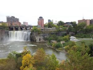 Gratuitous shot of Rochester's lovely High Falls.