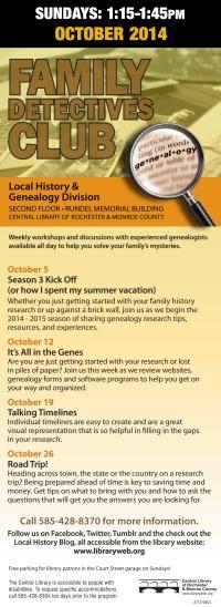 October 2014 Schedule