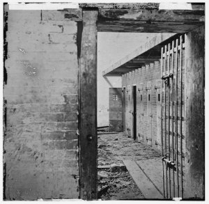 Alexandria slave pen, c. 1861. From www.virginiamemory.com/shaping courtesy of Library of Congress Prints and Photographs Division, Washington, D.C.