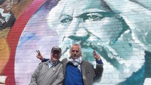 O Tim Madigan and Danny Devenny  at Douglass Plaque Belfast June 2013