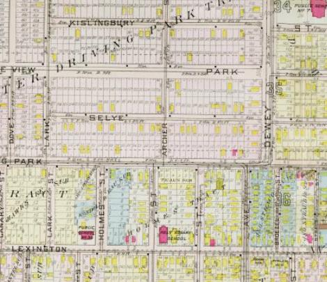 Dewey-1910 driving park tract map