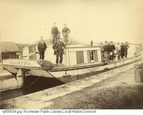 erie canal- palmyra boat