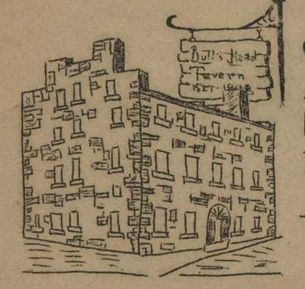 bulls head-tavern drawing